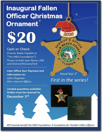 Inaugural Fallen Officer Christmas Ornament