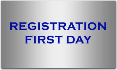 REGISTRATION FIRST DAY